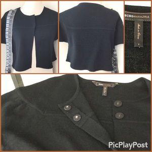 BCBG MaxAzria Cropped Jacket, Black SZ.S, Preowned